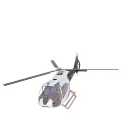 Solitary 3D rendered unmanned helicopter