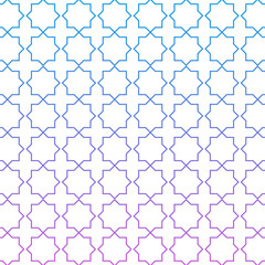 Color blue and pink pattern