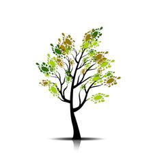 Decorative simple tree.Vector ai10