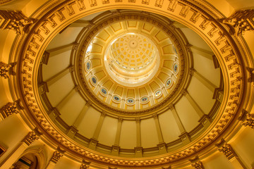 Gold Dome - A close-up inside view of gold dome of Colorado State Capitol Building. Denver, Colorado, USA. Wall mural