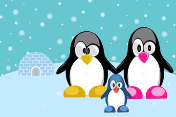 penguin family - pinguin familie - tux