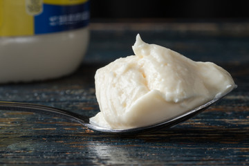 A spoonful of mayonnaise