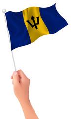 バルバドス  国旗 手 アイコン