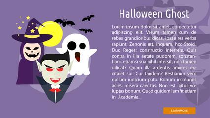 Halloween Ghost Conceptual Banner