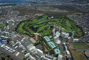 Aerial of Honolulu Country Club in Salt Lake