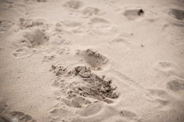 Steps on a sand
