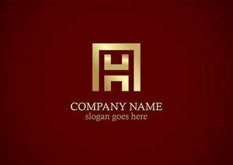 gold letter h company logo