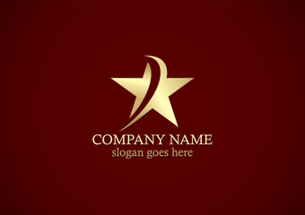 gold star abstract logo