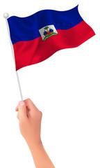ハイチ  国旗 手 アイコン