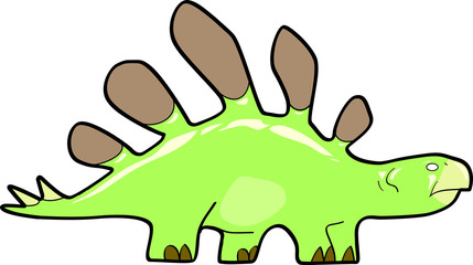 stegosaurus cartoon in color