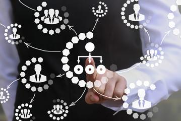 Business chart web finance social network communication concept. Flowchart icon success bank insurance money support service bim shopping technology