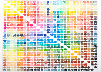 Farbpalette Aquarell in bunten Farben