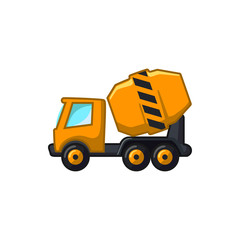 concrete mixer icon illustration