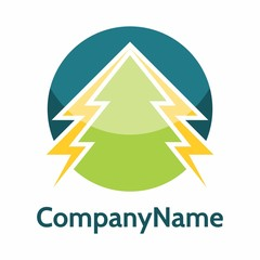 Pine Tree logo icon vector template