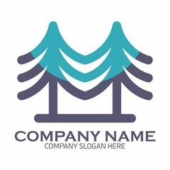 Pine Tree logo icon vector template
