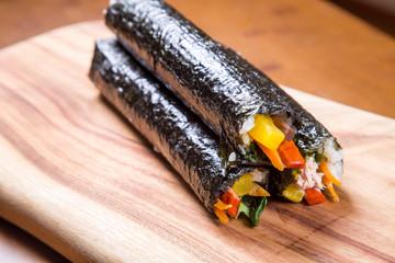 Korean food (tuna) Kimbab