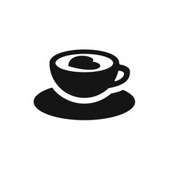 cup with heart icon illustration