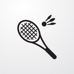 badminton icon illustration