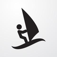 surfing icon illustration