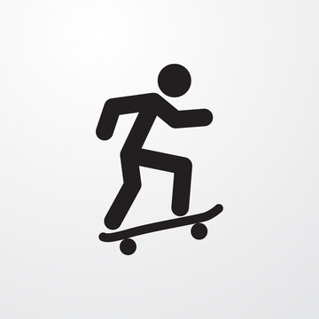 skateboard icon illustration