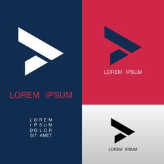 shape arrow abstract logo
