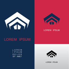 shape building architecture abstract company logo