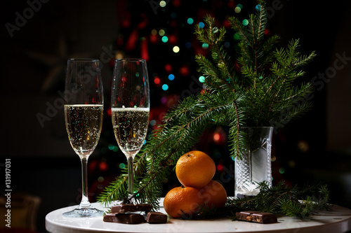 Quot christmas still life with tree stock photo