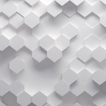 3d illustration of geometric pattern