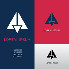 triangle abstract building logo
