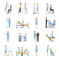 Nurse Health Care Decorative Icons