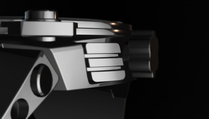 Smart watch on various material and background, 3d render