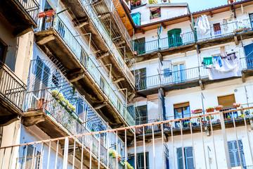 Typical North Italy condominium courtyard