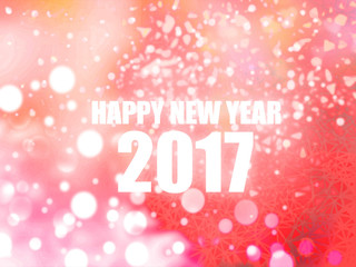 Happy New Year 2017 pink abstract bokeh background