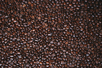 Coffee beans brown color texture pattern photo stock