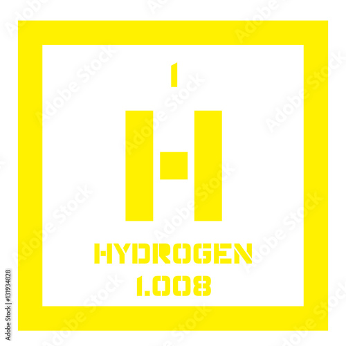 Hydrogen chemical element the lightest element on the periodic hydrogen chemical element the lightest element on the periodic table colored icon with urtaz Gallery