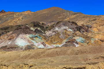 Colorful geological in Death Valley.