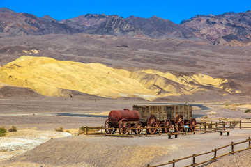 Twenty Mule Team of Harmony Borax Works in Death Valley.