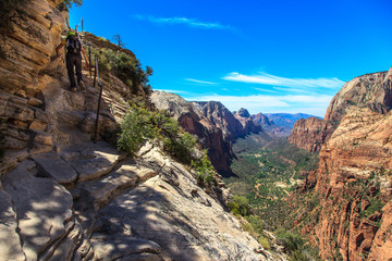 Angels Landing in Zion Canyon National Park.