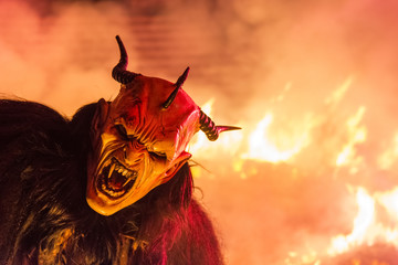 The Krampus mask