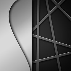 Beautiful abstract silver background with lines