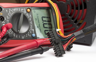 Red  multimeter for repair equipment