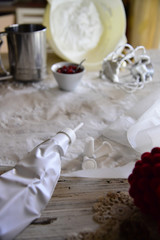 Meringues and pomegranate