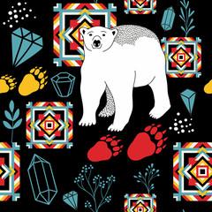 Creative seamless pattern with wild animal.