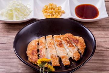 Cheese pork cutlet - Korean food