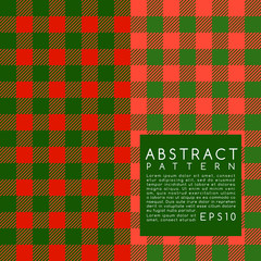 Fabric Pattern : Plaid : Vector Illustration