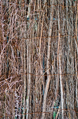wall or floor wattle woven