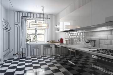Meine neue Küche (Illustration)