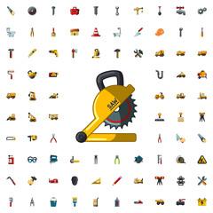 circular saw icon illustration