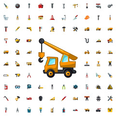 truck with hook icon illustration