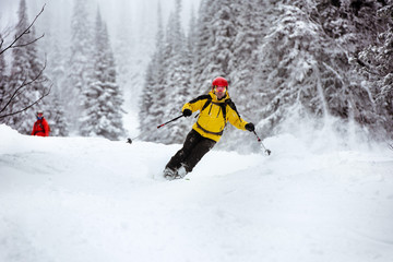 Ski skier off-piste backcountry resort